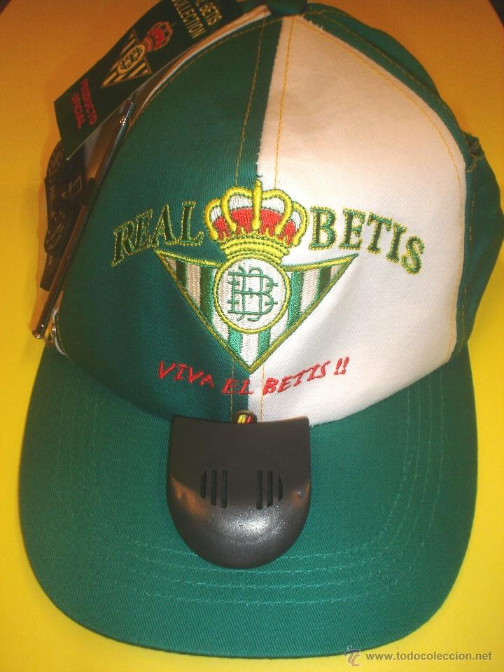 GORRA OFICIAL REAL BETIS BALOMPIE - CON RADIO INCORPORADA (Coleccionismo Deportivo - Ropa y Complementos - Complementos deportes)
