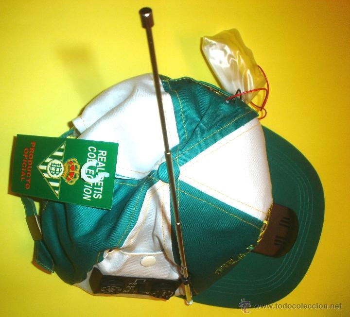 Coleccionismo deportivo: GORRA OFICIAL REAL BETIS BALOMPIE - CON RADIO INCORPORADA - Foto 2 - 105708196