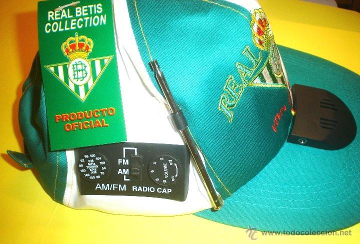 Coleccionismo deportivo: GORRA OFICIAL REAL BETIS BALOMPIE - CON RADIO INCORPORADA - Foto 4 - 105708196