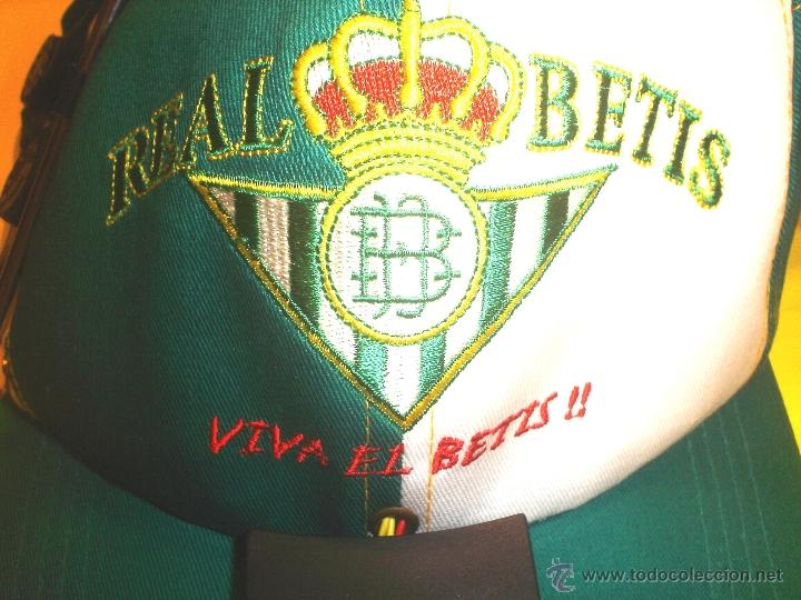 Coleccionismo deportivo: GORRA OFICIAL REAL BETIS BALOMPIE - CON RADIO INCORPORADA - Foto 7 - 105708196