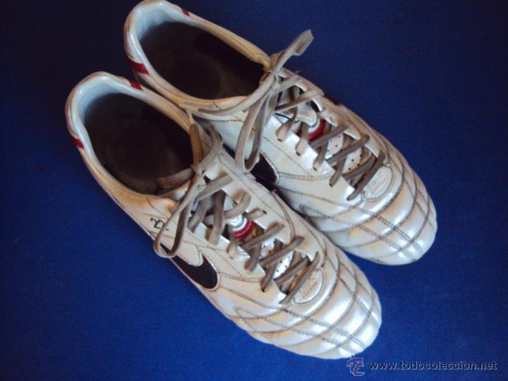 Coleccionismo deportivo: (F-1245)BOTAS DE ABIDAL,F.C.BARCELONA,MARCA NIKE TIEMPO,MATCH WORN - Foto 3 - 53551564