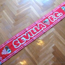 Coleccionismo deportivo: BUFANDA SEVILLA FC CF CLASICA CON LOGOS CENTENARIO 100 AÑOS ACRILICA SCARV SCHAL ECHARPE SCIARPA. Lote 54423189