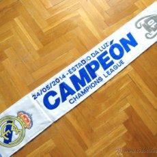 Coleccionismo deportivo: BUFANDA REAL MADRID CAMPEON CHAMPIONS LEAGUE LISBOA 2014 DECIMA ACRILICA SCARV SCHAL ECHARPE SCIARPA. Lote 54424099