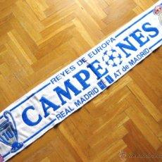 Coleccionismo deportivo: BUFANDA REAL MADRID CAMPEON CHAMPIONS LEAGUE LISBOA 2014 DECIMA ACRILICA SCARV SCHAL ECHARPE SCIARPA. Lote 80928219