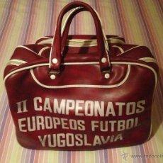 Coleccionismo deportivo: BOLSA DE DEPORTE AÑOS 70/80 DE LOS SEGUNDOS CAMPEONATOS EUROPEOS DE FUTBOL DE YUGOSLAVIA-F.E.D.U-. Lote 54448618