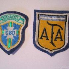 Coleccionismo deportivo: LOTE 2 PARCHES TELA FUTBOL AFA ASOCIACION FUTBOL ARGENTINA CBD CONFEDERACION BRASILEÑA DE FUTBOL. Lote 56132371