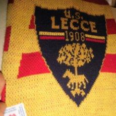 Coleccionismo deportivo: ITALIA ANTIGUA BUFANDA FUTBOL US LECCE 1908 SALENTO 12 CON MARCA GUAGIU ITALI. Lote 56175488