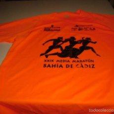 Coleccionismo deportivo: CAMISETA DE MEDIA MARATON CIUDAD DE CADIZ TALLA L. Lote 56374108