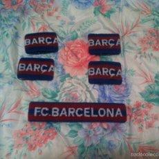 Coleccionismo deportivo: 4 MUÑEQUERAS Y UNA CINTA DE PELO FC BARCELONA. AÑOS 80. FABRICA REIXACH. NUEVO DE TIENDA. NUEVO. Lote 57529477