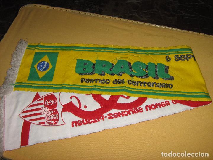 Coleccionismo deportivo: SEVILLA F.C. - SELECCIÓN DE BRASIL - 6 SEPTIEMBRE 2005 - BUFANDA DEL PARTIDO DEL CENTENARIO - Foto 3 - 86521892