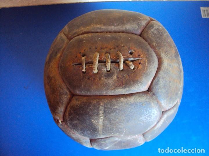 (F-170146)ANTIGUO BALON CORDADO DE 18 PANELES (Coleccionismo Deportivo - Ropa y Complementos - Complementos deportes)