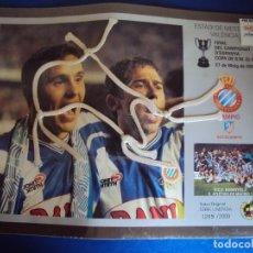 Coleccionismo deportivo: (F-200125)XARXA ORIGINAL FINAL CAMPIONAT D´ESPANYA COPA DE S.M.EL REI,R.C.D.ESPANYOL,2-AT.MADRID,1,. Lote 190200335