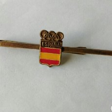 Coleccionismo deportivo: PASACORBATAS PASADOR AGUJA CORBATA ESCUDO OLIMPIADAS ESPAÑA. Lote 85278798