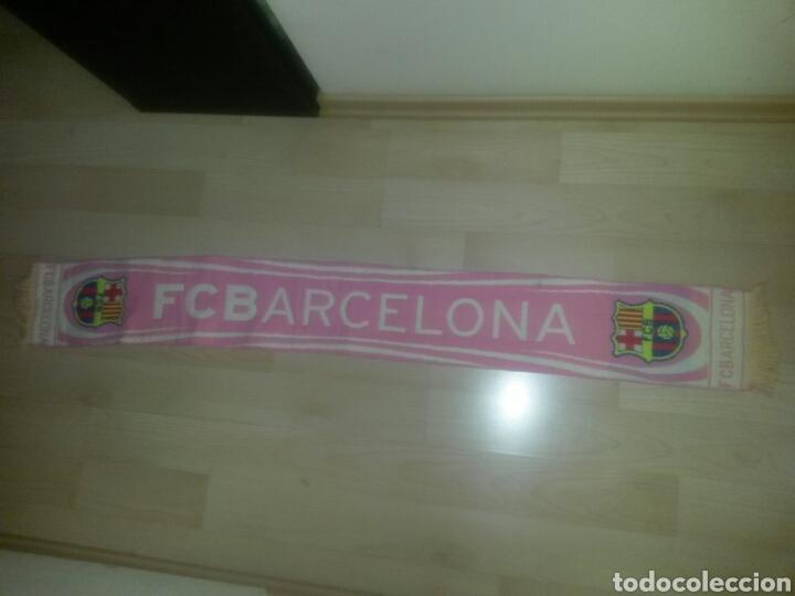 BUFANDA FCB BARCELONA ROSA PRODUCTO OFICIAL 145CM RARA (Coleccionismo Deportivo - Ropa y Complementos - Complementos deportes)