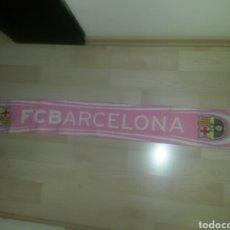 Coleccionismo deportivo: BUFANDA FCB BARCELONA ROSA PRODUCTO OFICIAL 145CM RARA. Lote 86680492