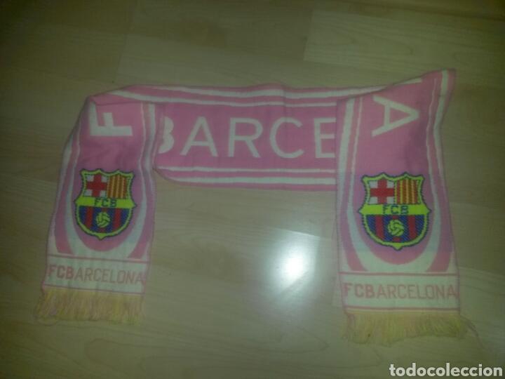 Coleccionismo deportivo: BUFANDA FCB BARCELONA ROSA PRODUCTO OFICIAL 145cm RARA - Foto 2 - 86680492
