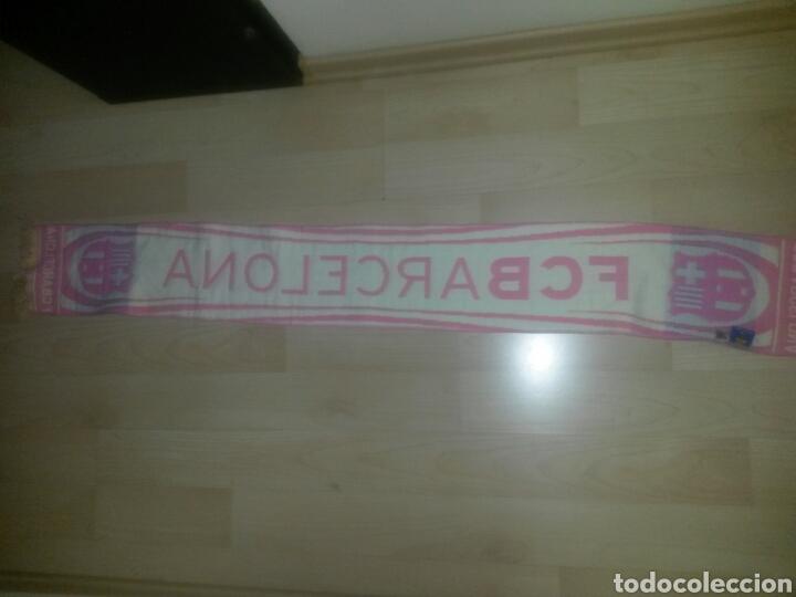 Coleccionismo deportivo: BUFANDA FCB BARCELONA ROSA PRODUCTO OFICIAL 145cm RARA - Foto 3 - 86680492