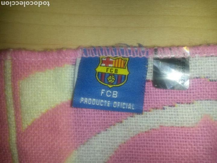Coleccionismo deportivo: BUFANDA FCB BARCELONA ROSA PRODUCTO OFICIAL 145cm RARA - Foto 4 - 86680492