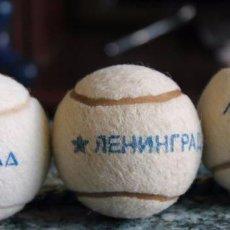 Coleccionismo deportivo: LOTE TRES VOLANTE PARA TENIS .URSS.LENINGRADO .. Lote 96037611