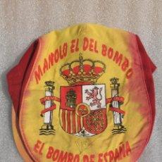 Coleccionismo deportivo: GORRA MANOLO EL DEL BOMBO. 24 CM. Lote 97390927