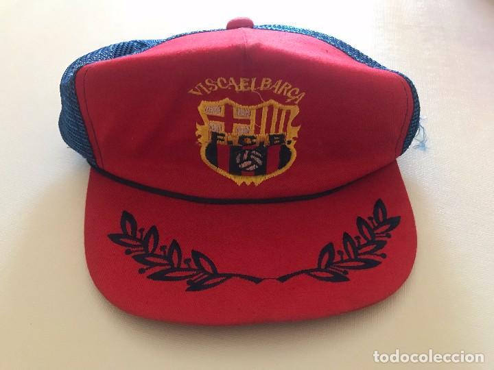 GORRA ANTIGUA FCB, FUTBOL CLUB BARCELONA, BARÇA, BOIXOS NOIS (Coleccionismo Deportivo - Ropa y Complementos - Complementos deportes)