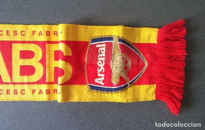 Coleccionismo deportivo: Bufanda Fútbol Cesc Fábregas Arsenal - Foto 2 - 102983455