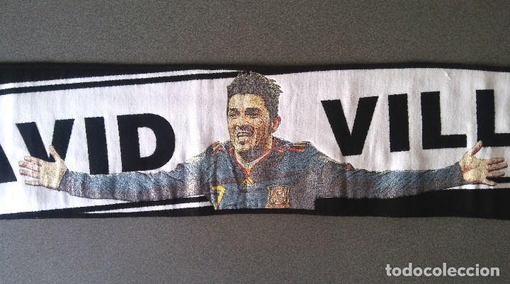 Coleccionismo deportivo: Bufanda Futbol David Villa Adidas - Foto 2 - 102983735