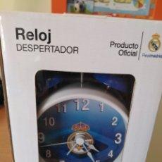 Coleccionismo deportivo: RELOJ DESPERTADOR REAL MADRID PRODUCTO OFICIAL. Lote 105422832