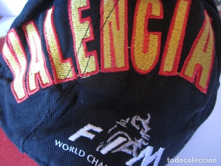 Coleccionismo deportivo: gorra g.p comunitat valenciana cheste gp 500 valencia fim world championships precisport - Foto 3 - 106624523