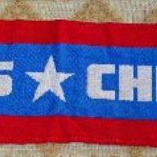 Coleccionismo deportivo: BUFANDA DE LA SELECCIÓN CHILENA DE FÚTBOL. CHILE. CERVEZA CRISTAL. 90 GR. Lote 109538935