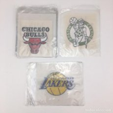 Coleccionismo deportivo: LOS ANGELES LAKERS CHICAGO BULLS BOSTON CELTICS 15 TRANSFER BALONCESTO ESCUDOS BASKETBALL NBA BASKET. Lote 110811203