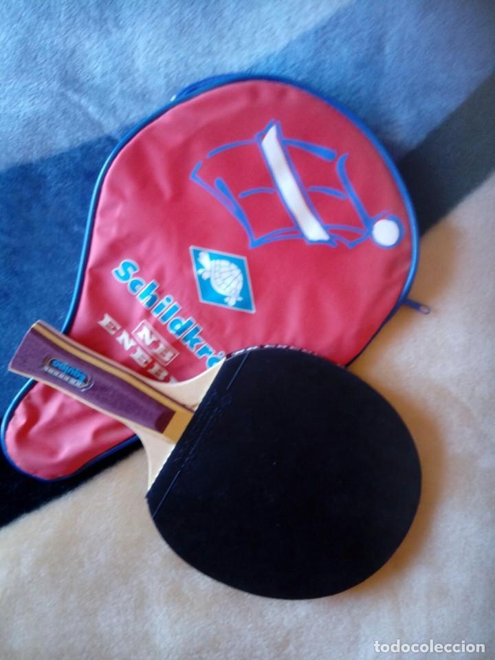 RAQUETA PING PONG ENEBE . NB. CON FUNDA (Coleccionismo Deportivo - Ropa y Complementos - Complementos deportes)