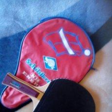 Coleccionismo deportivo: RAQUETA PING PONG ENEBE . NB. CON FUNDA. Lote 120508583