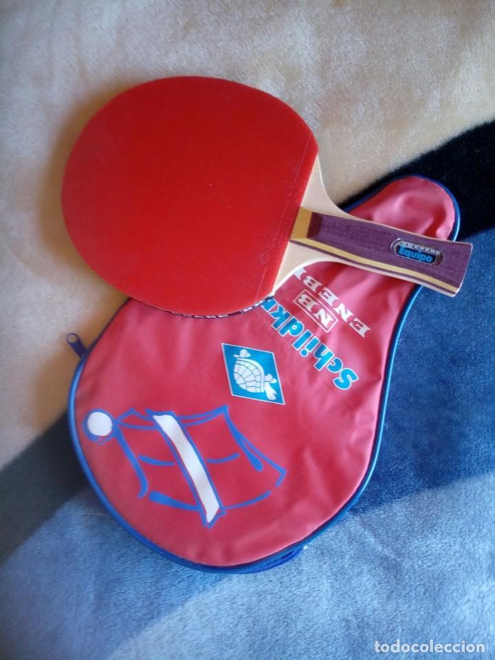 Coleccionismo deportivo: Raqueta Ping Pong ENEBE . NB. CON FUNDA - Foto 2 - 120508583