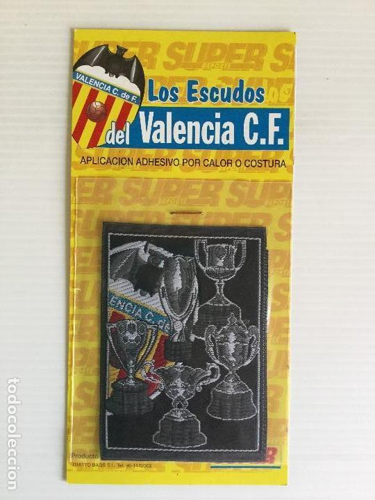 PARCHE DE TELA TERMOADHESIVO VALENCIA CF COPAS Y ESCUDO (Coleccionismo Deportivo - Ropa y Complementos - Complementos deportes)