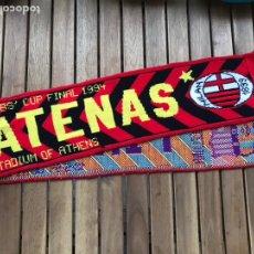 Coleccionismo deportivo: BUFANDA FINAL ATENAS 1994 FC BARCELONA MILAN CHAMPIONS LEAGUE. Lote 124460392