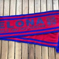 Coleccionismo deportivo: BUFANDA FINAL COPA DE EUROPA DEL BARCELONA EN ROTTERDAM EN 1997. Lote 124460698