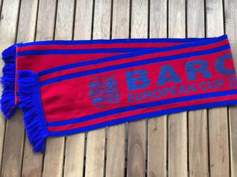 Coleccionismo deportivo: BUFANDA FINAL COPA DE EUROPA DEL BARCELONA EN ROTTERDAM EN 1997 - Foto 3 - 124460698