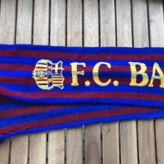 Coleccionismo deportivo: ANTIGUA BUFANDA SERIGRAFIADA DEL BARÇA FUTBOL CLUB BARCELONA PARA HOOLIGANS SUPPORTERS ULTRAS. Lote 124461236