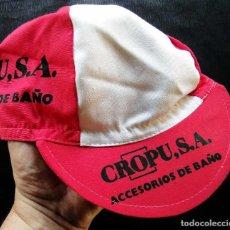 Coleccionismo deportivo: GORRA CICLISMO. EQUIPO CICLISTA: CROPUSA. BURGOS. ORIGINAL DE ÉPOCA. AÑOS 80. VINTAGE.. Lote 129173535