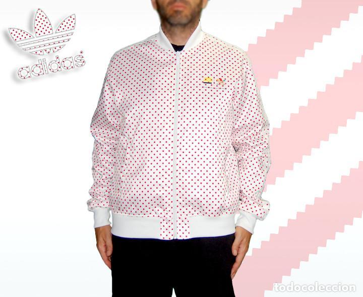 sprzedaż uk kupić najlepszy dostawca Adidas Originals Pharrell Williams Blanco y Rojo Polka Dots Chaqueta L