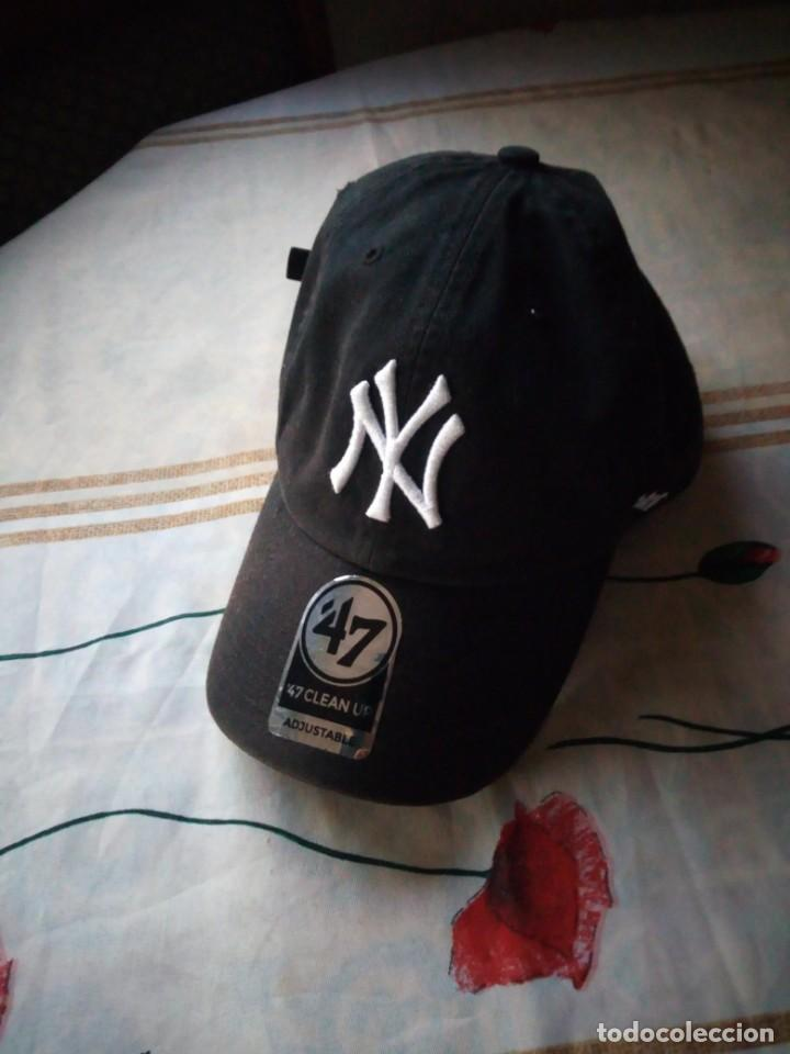 GORRA VISERA NEW YORK YANKEES YOUTH CLEAN UP HOME ADJUSTABLE - 47 BRAND  (Coleccionismo Deportivo f6b5cd9305d