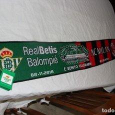 Coleccionismo deportivo: 3 BUFANDAS DEL GRUPO DE LA UEFA EUROPA LEAGUE REAL BETIS Y AC MILAN, OLIMPIAKOS Y DUDELANGE . Lote 136442826