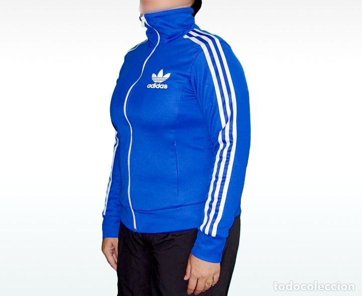 Coleccionismo deportivo  Adidas chaqueta chándal tracktop azul mujer talla  D40 E40 F42 I46 - Foto 4dc1ac66d826