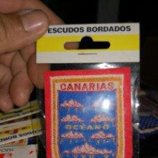 Coleccionismo deportivo: PARCHE AÑOS 80 ESCUDO BORDADO CANARIAS OCEANO. Lote 212675780