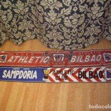 Collectionnisme sportif: 2 BUFANDA DEL ATHLETIC DE BILBAO PRODUCTO OFICIAL,Y COPA UEFA SAMPDORIA & AT.BILBAO.. Lote 144641598