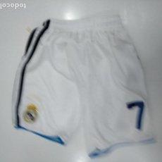Coleccionismo deportivo: BERMUDAS PANTALON CORTO DEL REAL MADRID. DORSAL 7. TALLA 10 PEQUEÑA. USADA. TDKDEP17. Lote 146203114
