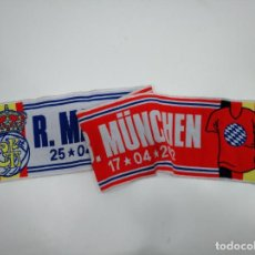 Coleccionismo deportivo: BUFANDA DEL PARTIDO REAL MADRID BAYERN DE MUNICH. 17 Y 25 DE ABRIL DE 2012. TDKDEP16. Lote 146411578