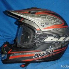 Coleccionismo deportivo: CASCO DE MOTO MARCA NITRO RACING MX 403 - TALLA M+ GAFAS BLUR. Lote 148234862
