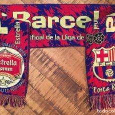 Coleccionismo deportivo: BUFANDA DEL FÚTBOL CLUB BARCELONA-CERVEZA ESTRELLA DAMM. Lote 156966238
